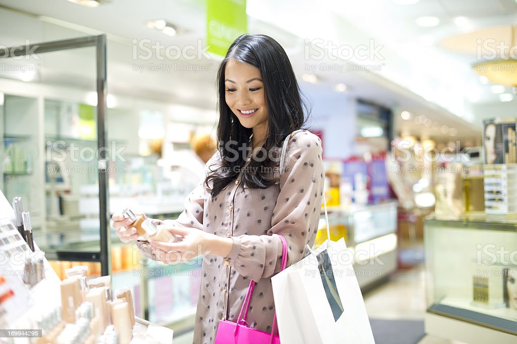 shopping for make up stock photo