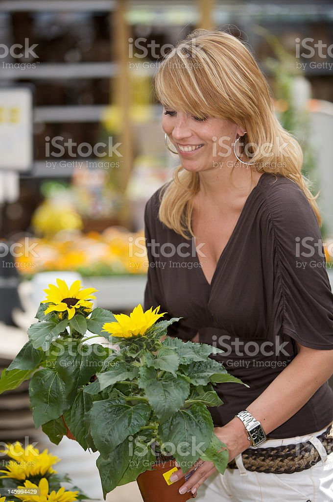 Shopping for new plants royalty-free stock photo