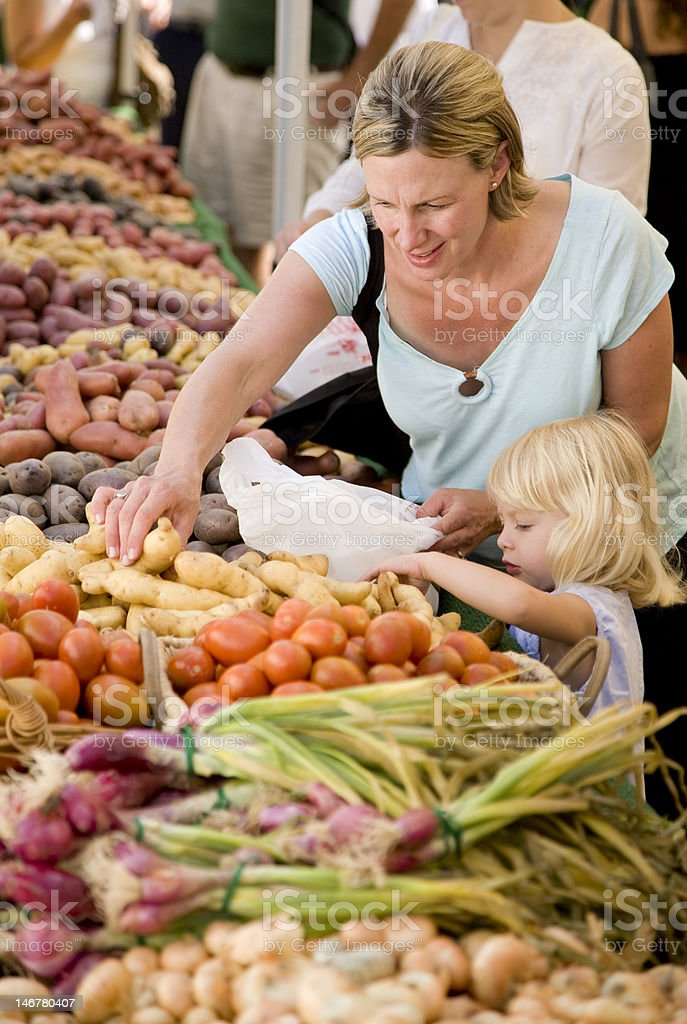 Shopping for potatoes2 royalty-free stock photo