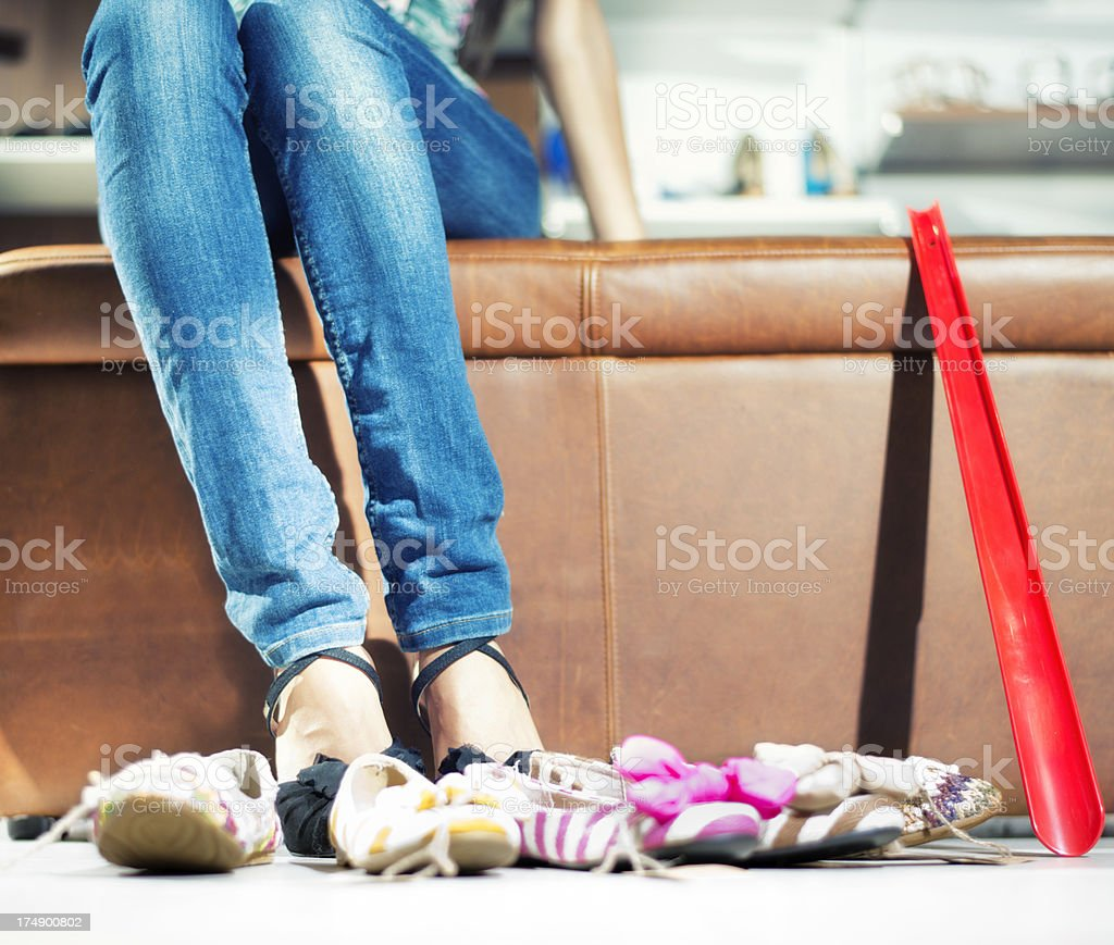 Shopping for shoe royalty-free stock photo