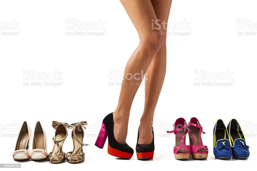 Shopping for shoes stock photo