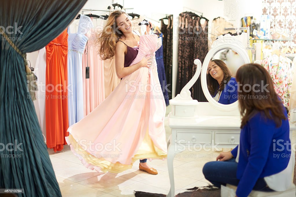shopping for that dress stock photo