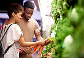 Shot of a young couple shopping in a grocery store