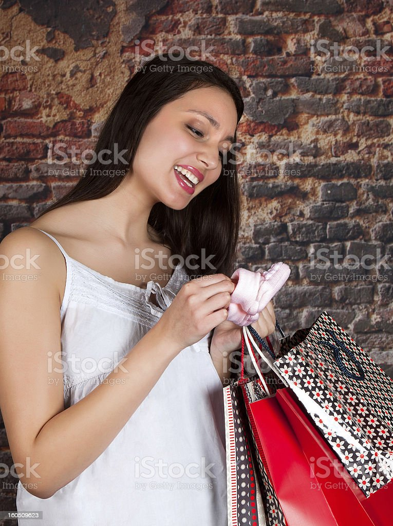 Shopping for the new baby royalty-free stock photo