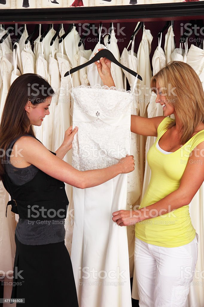 Shopping For Wedding Dress royalty-free stock photo