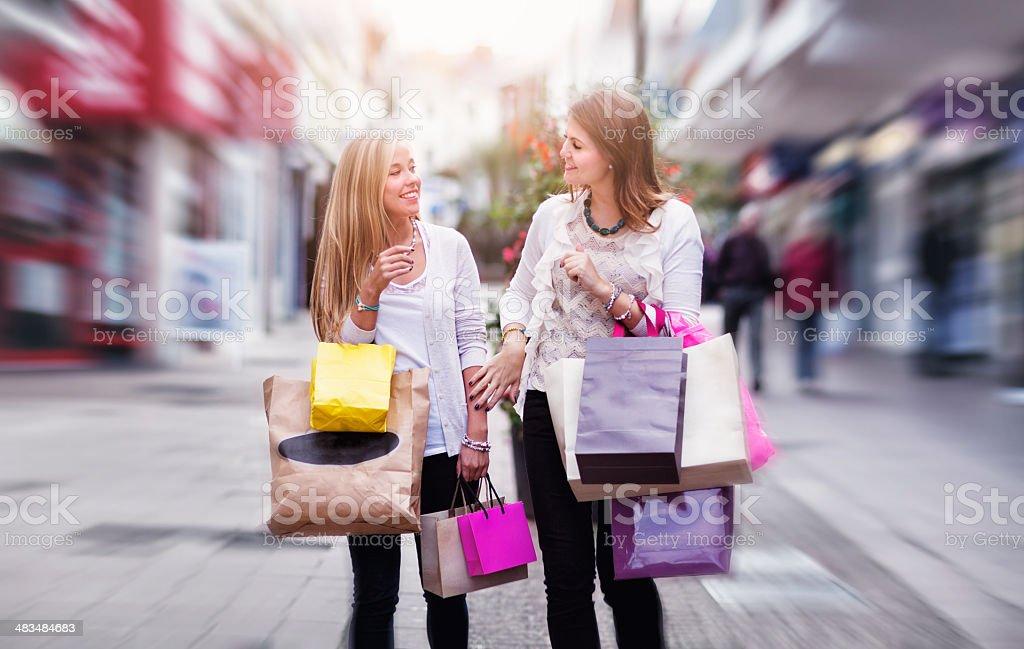 Shopping Frenzy royalty-free stock photo