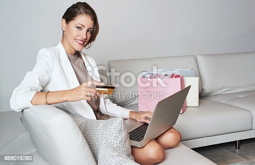 istock Shopping from home made easy 888019260