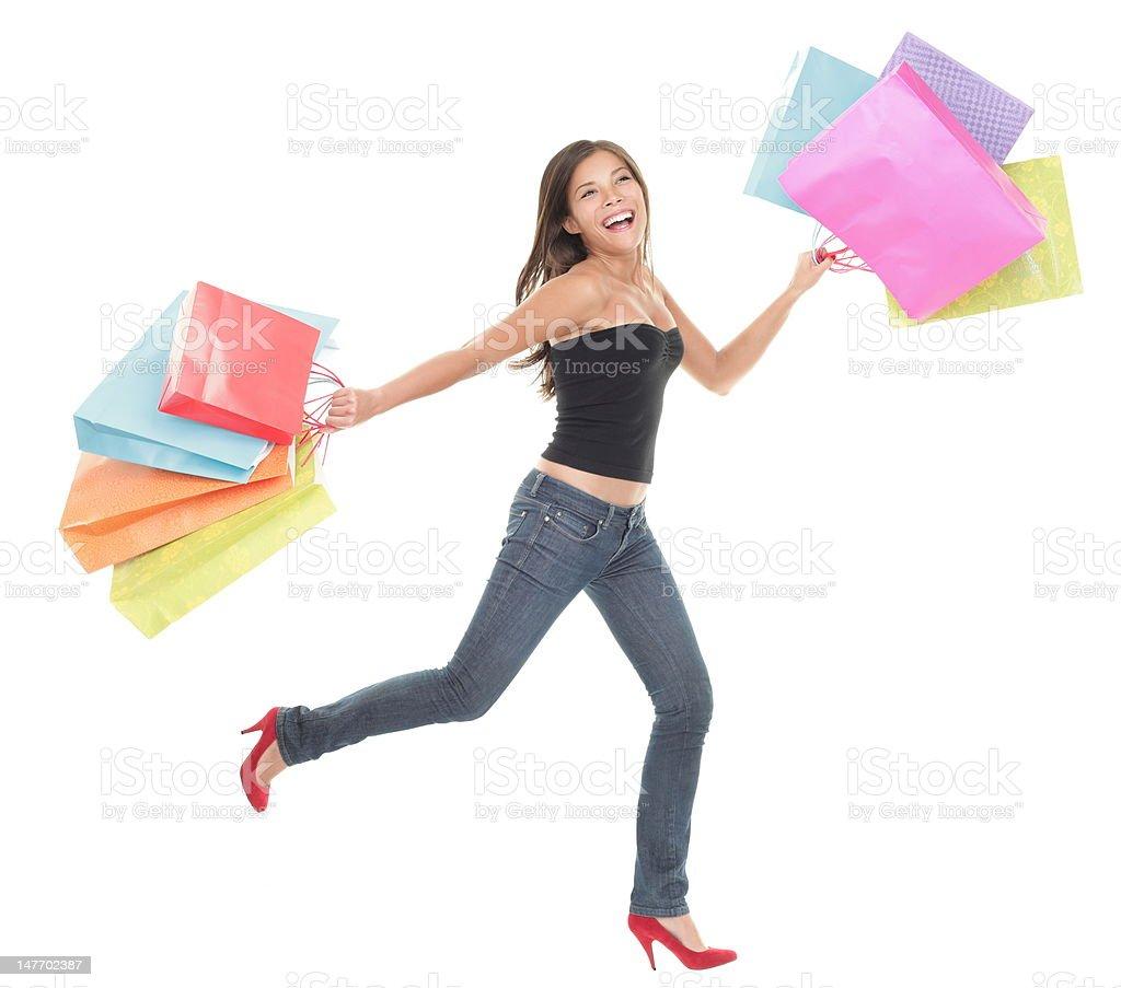 Shopping fun stock photo