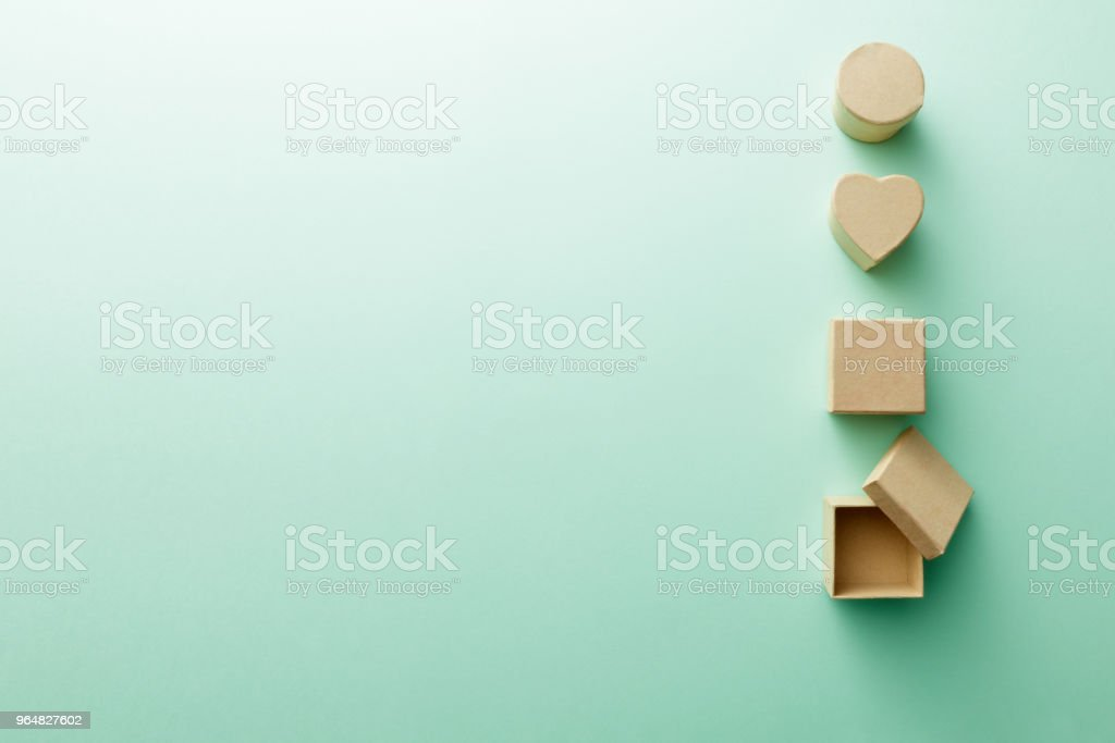 Shopping: Gift Boxes Still Life royalty-free stock photo