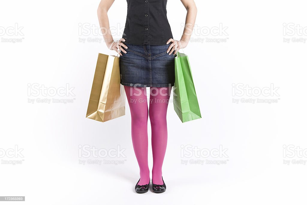 Shopping girl royalty-free stock photo