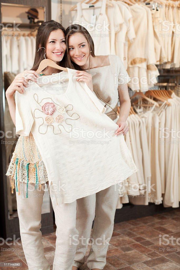 Shopping girls royalty-free stock photo