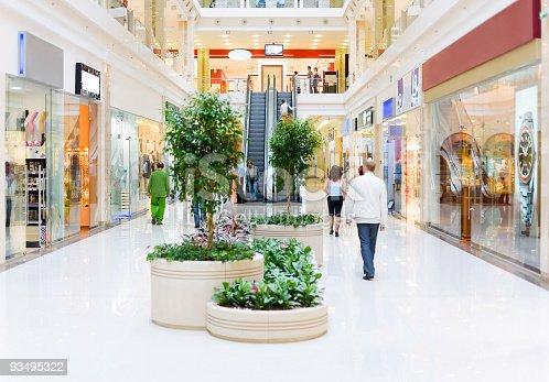 istock Shopping hall #4. Motion blur 93495322
