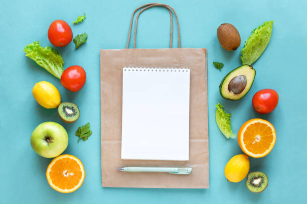 Shopping healthy food stock photo