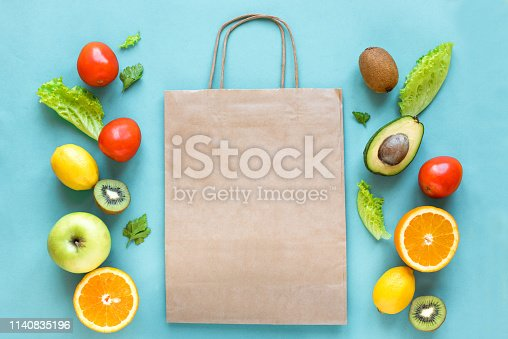 istock Shopping healthy food 1140835196