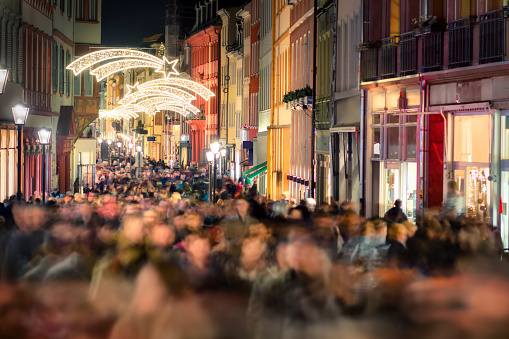 Shopping hustle in Germany