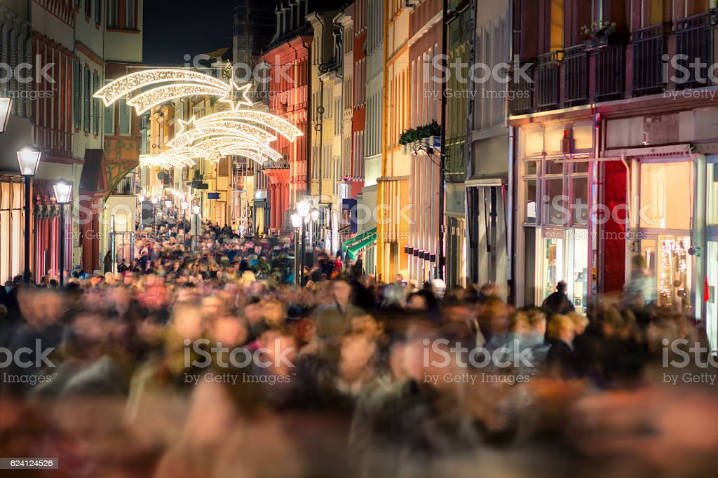 Shopping hustle in Germany stock photo