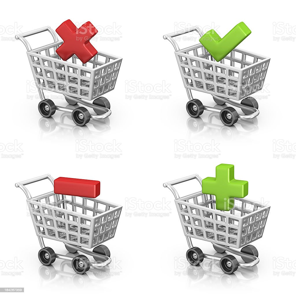 shopping icons stock photo