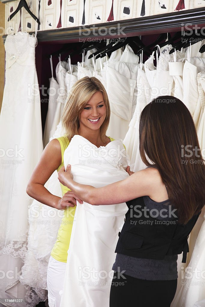 Shopping In Bridal Boutique royalty-free stock photo