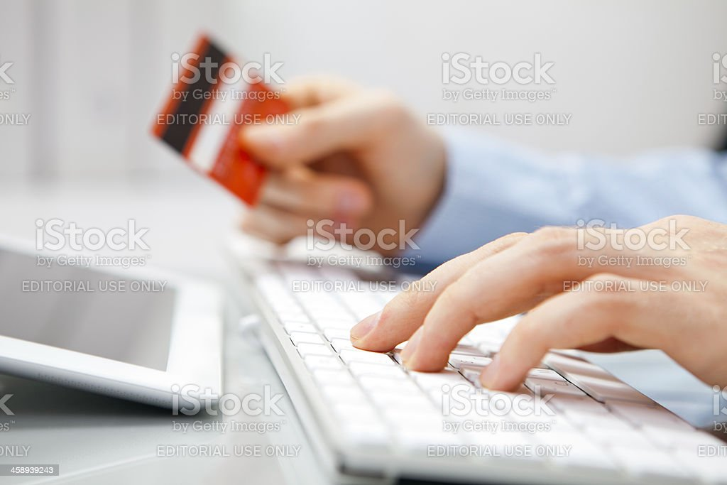 Shopping in computer royalty-free stock photo