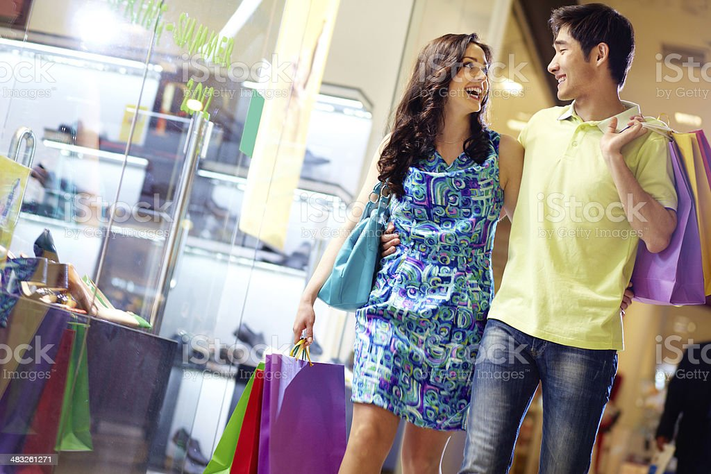 Shopping in full swing stock photo