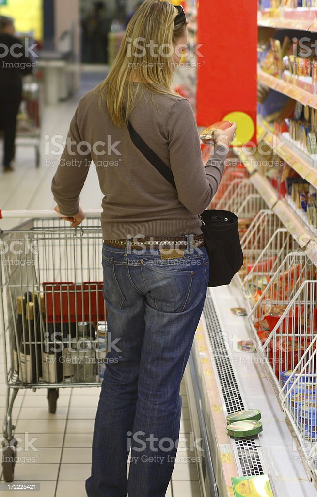 Shopping in Grocery Store royalty-free stock photo