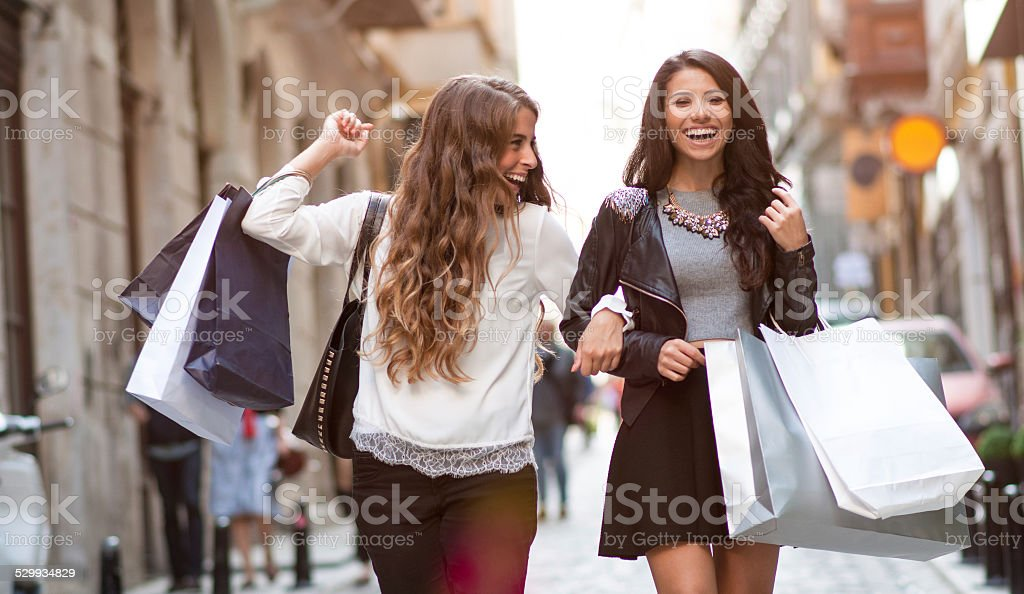 Shopping in Istanbul stock photo