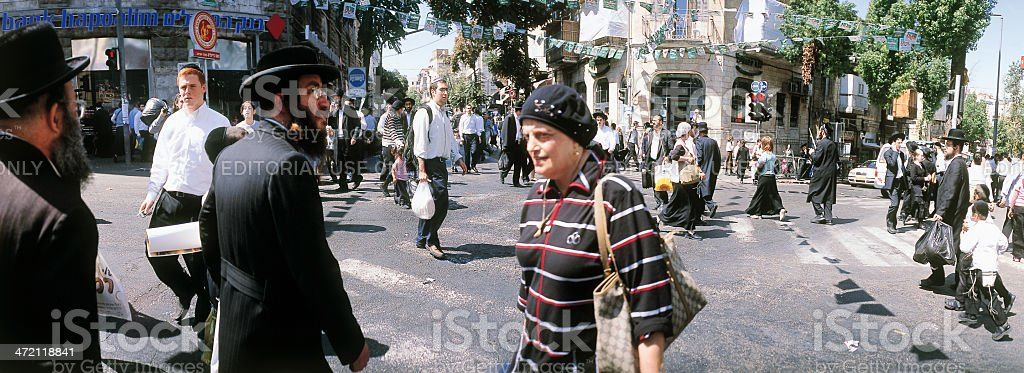 Shopping in Mea Shearim Jerusalem stock photo