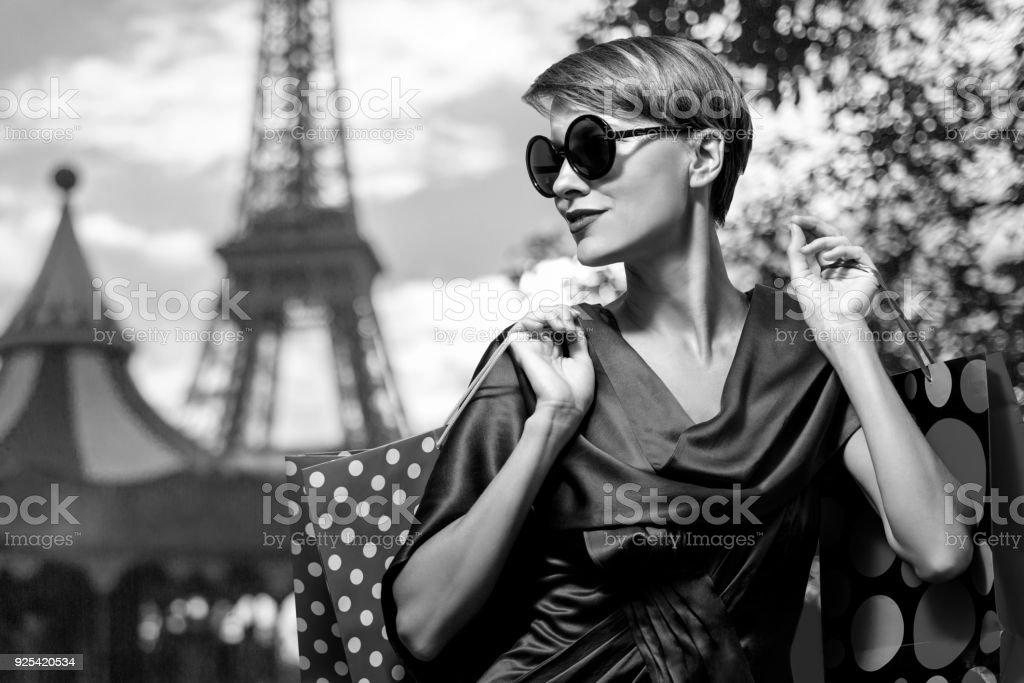 Shopping in Paris stock photo