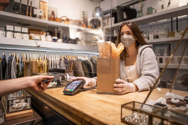 Shopping in reopen small store from a COVID safe business