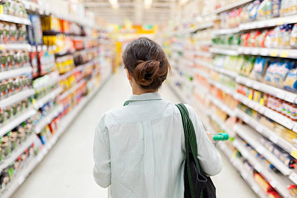 Shopping dans le supermarché - Photo