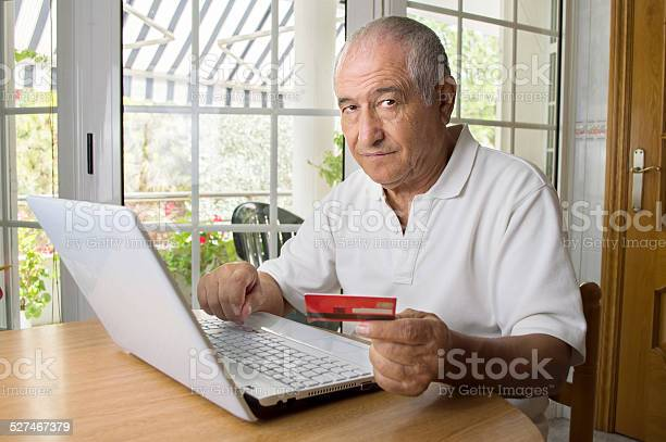 Shopping Internet Using Her Laptop Stock Photo - Download Image Now