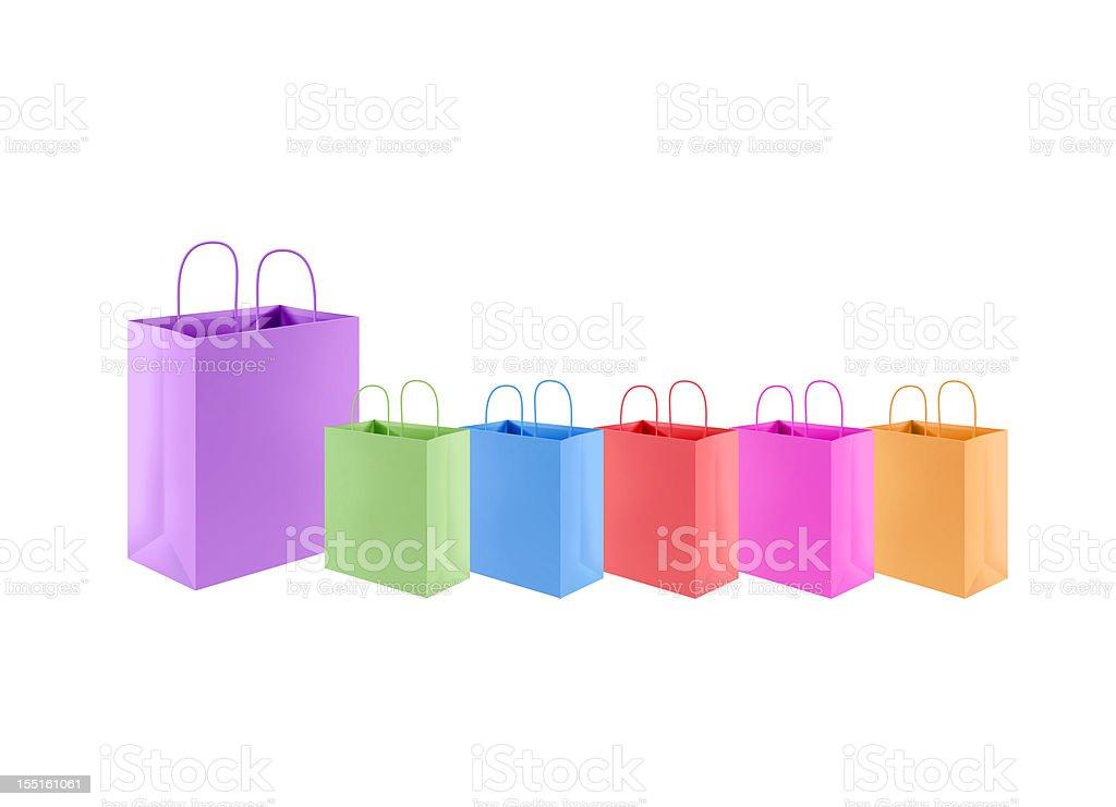 XXL Shopping isolated on white royalty-free stock photo