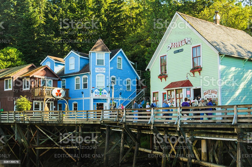 Shopping Ketchikan stock photo