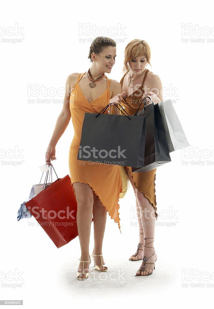 shopping ladies royalty-free stock photo