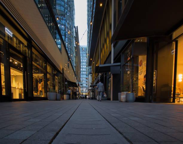 Shopping Lane in Barangaroo stock photo