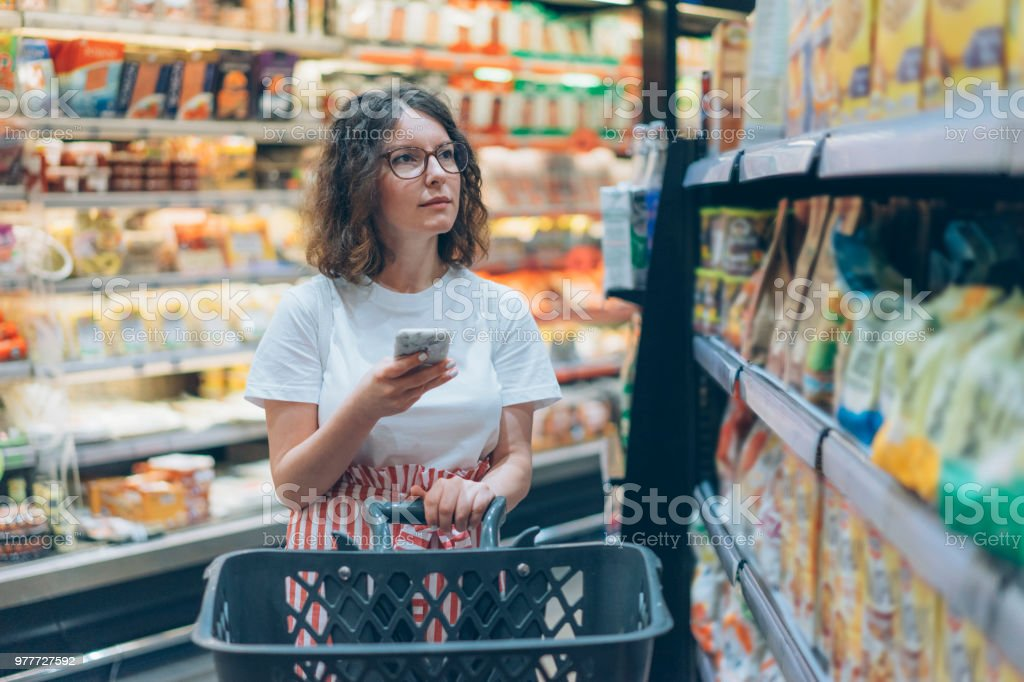 Shopping list in the smartphone