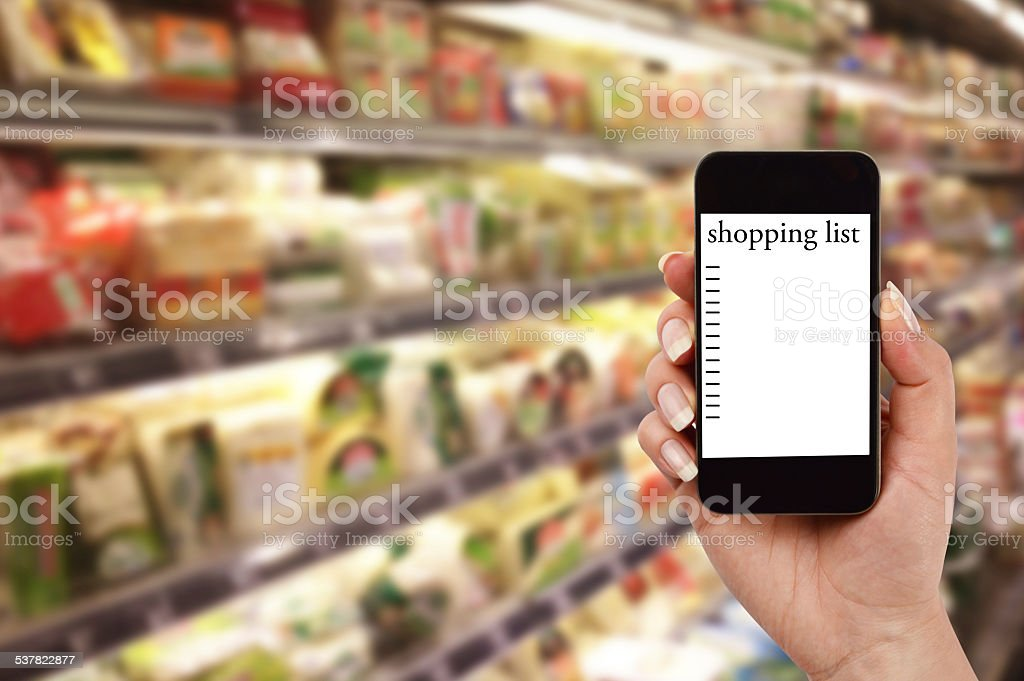 Shopping List (Click for more) stock photo