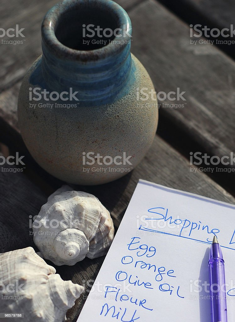 shopping list - Royalty-free Animal Shell Stock Photo