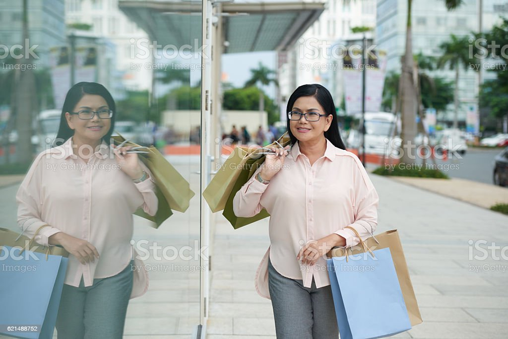 Les amateurs de Shopping photo libre de droits