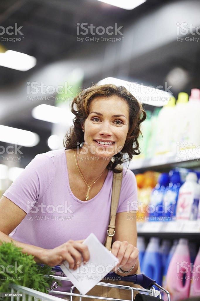 Shopping makes me smile royalty-free stock photo