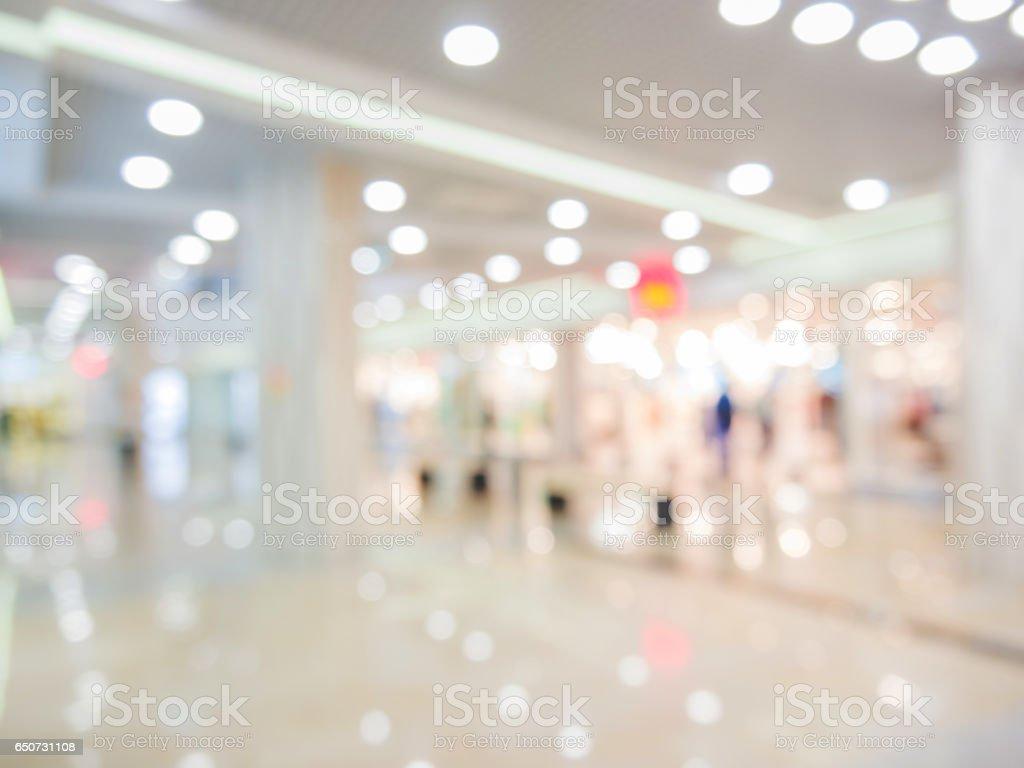 Shopping mall blur background stock photo