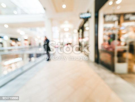 istock Shopping mall blur background 924719866