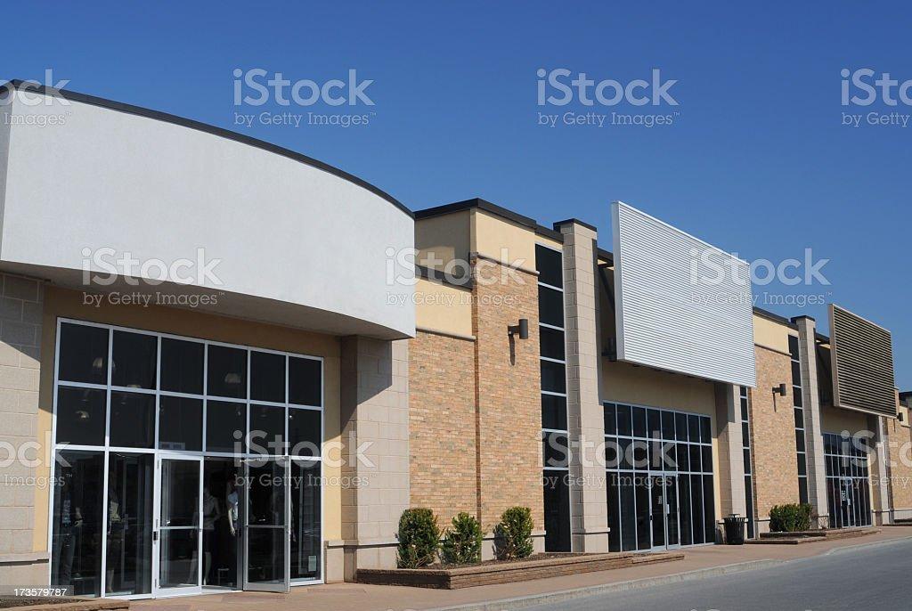 Shopping Mall Facades royalty-free stock photo