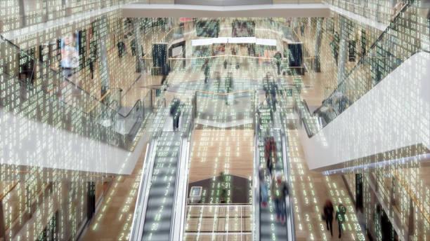 Einkaufszentrum gefüllt mit Daten. – Foto