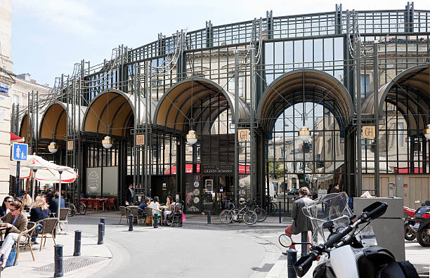 Shopping mall in Bordeaux, France stock photo