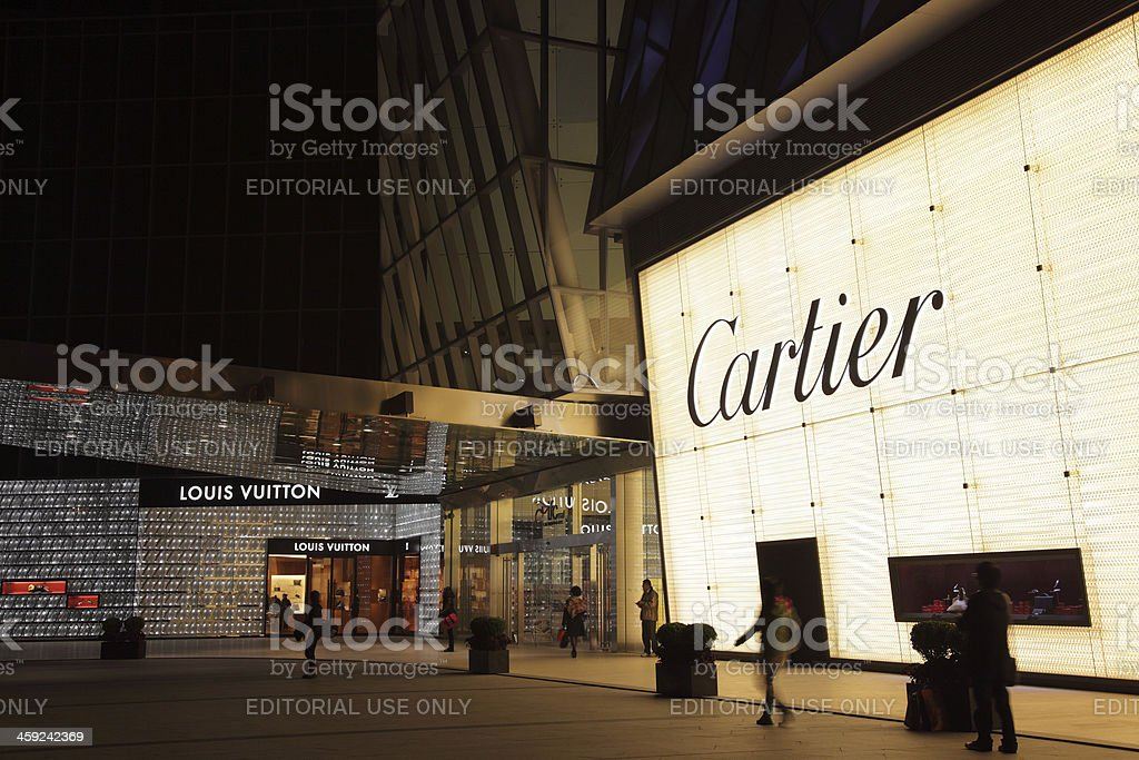 IFC Shopping Mall in Shanghai, China stock photo