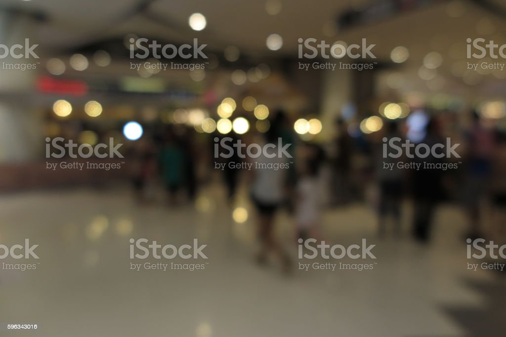 Shopping mall, modern trade with people in blur background Lizenzfreies stock-foto
