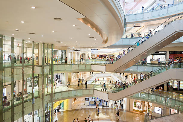 shopping mall - shopping mall stock photos and pictures