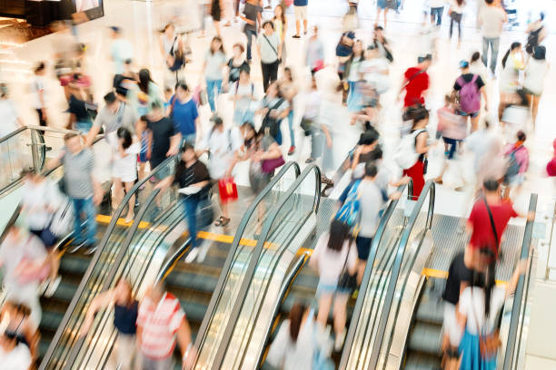 shopping mall - crowded stock pictures, royalty-free photos & images