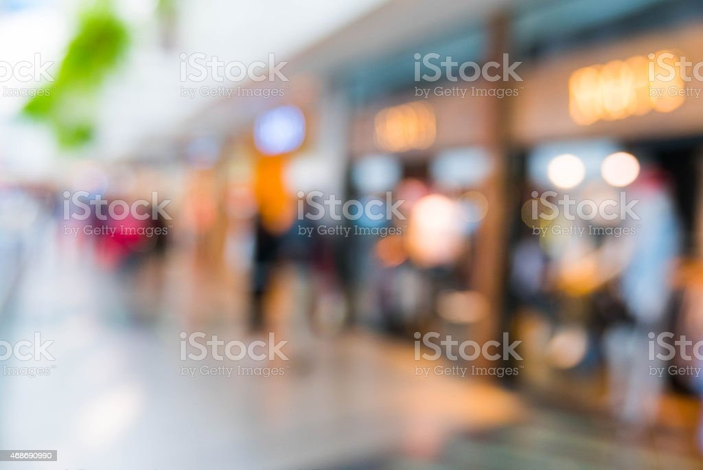 Shopping mall with a shallow depth focus stock photo